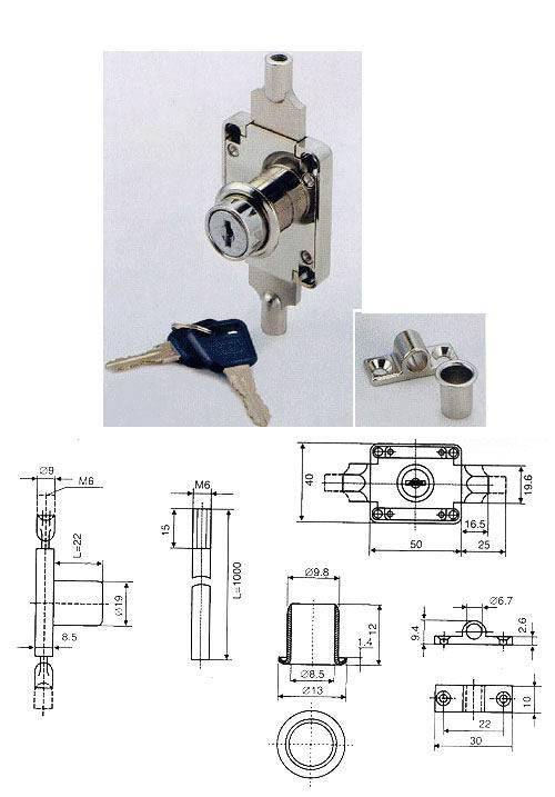 卧室门锁锁芯结构图 老式防盗门锁结构图 老式门锁结构图